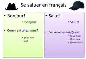 บทเรียนภาษาฝรั่งเศสเกี่ยวกับการทักทาย